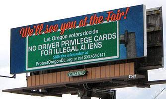 Protect Oregon Driver Licenses billboard