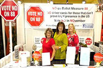 Protect Oregon Driver Licenses booth